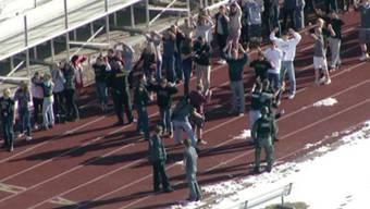 Videoaufnahmen der von der Schiesserei betroffenen US-Schule