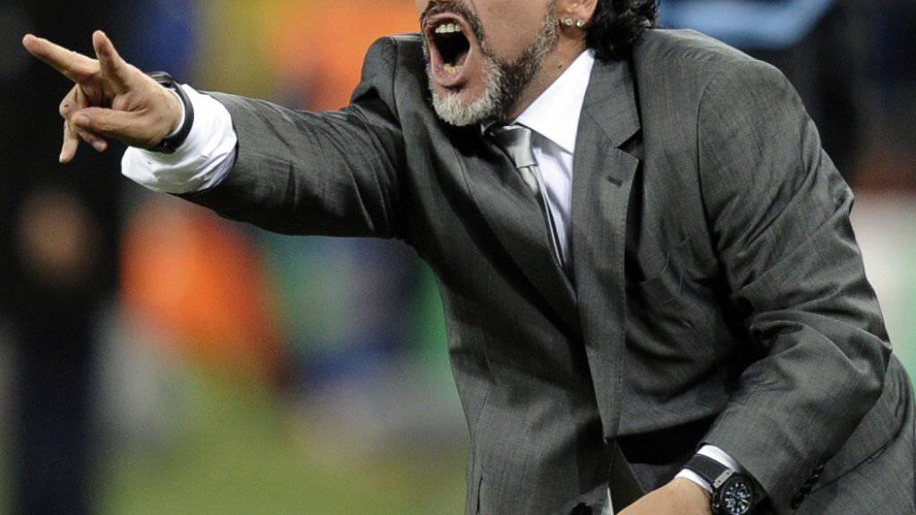 Diego Maradona soll nun bei einem mexikanischen Zweitligisten auf die Trainerbank zurück
