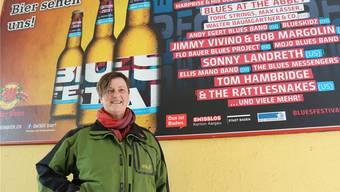 Volles Programm beim 16. Bluesfestival Baden: Präsidentin Susanne Slavicek. DRU