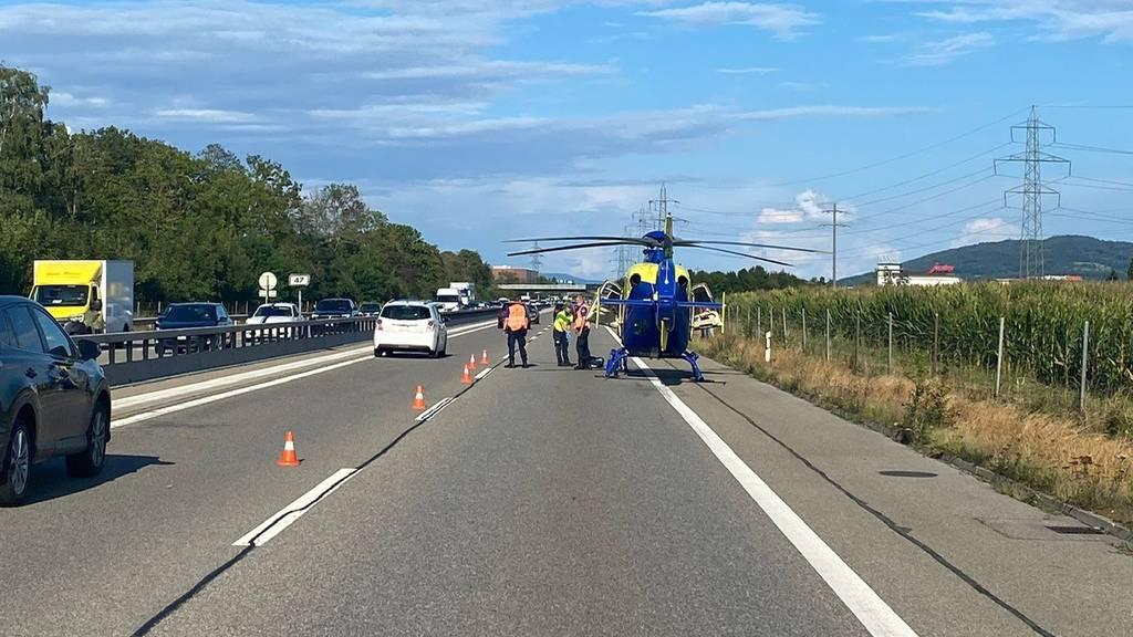 Rettungshelikopter im Einsatz