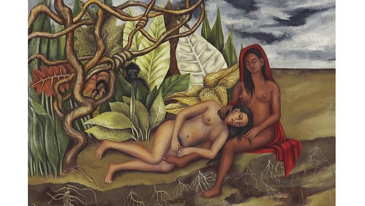 """Frida Kahlos  """"Dos desnudos en el bosque (La tierra misma),"""" erzielte am Donnerstag bei einer Auktion den Rekordpreis von acht Millionen Dollar."""