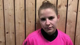 Mara Gloor von den FC Aarau Frauen nach der 1:2-Niederlage gegen Lugano