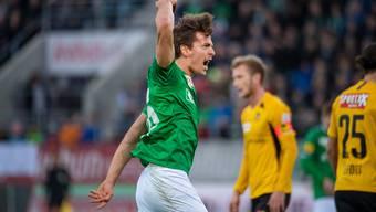 Das letzte Spiel vor dem Lockdown: St.Gallen (hier Lukas Görtler) und YB trennen sich 3:3 unentschieden.