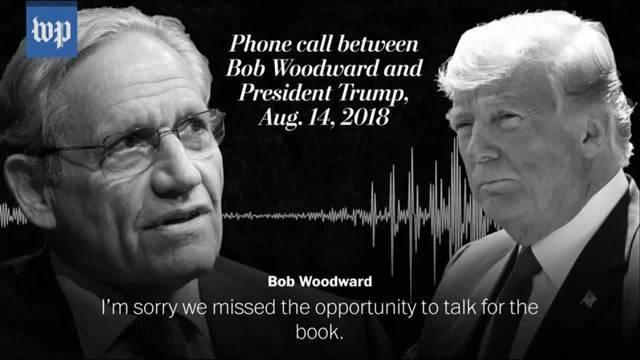 Mitschnitt von Telefonat zwischen Autor Woodward und Donald Trump