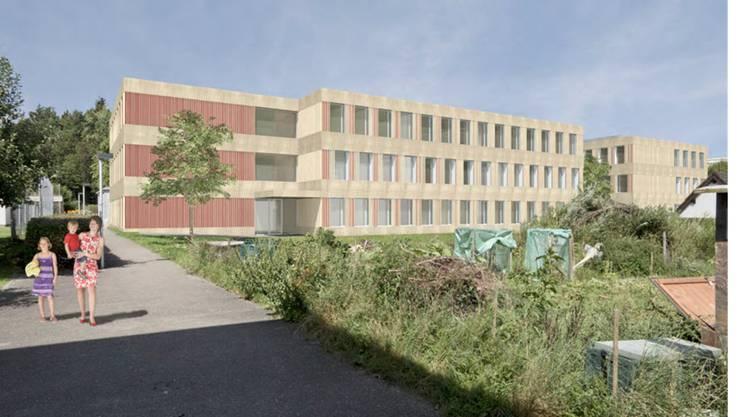 So können die beiden neuen Schulhäuser aussehen.ZVG