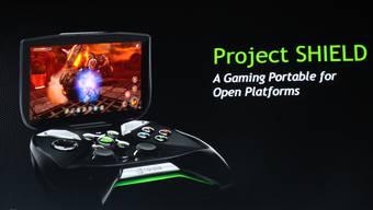 Anders als bei der Playstation 4, steht schon fest wie die Konsole Shield von Nvidia aussieht.