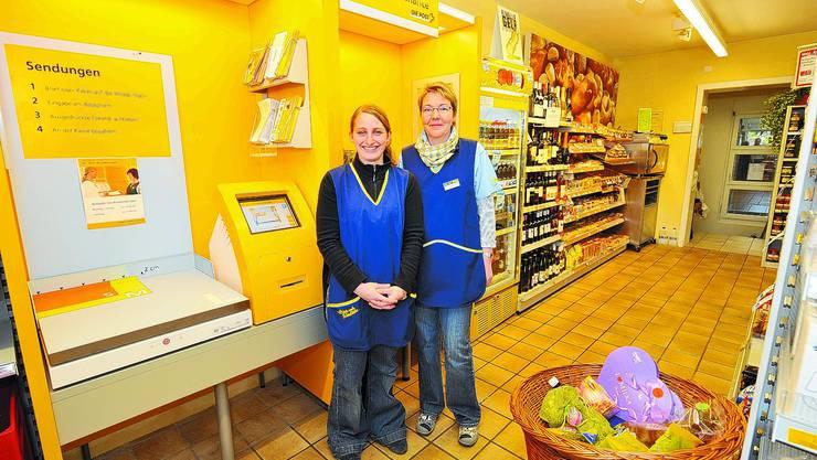 Susanne Luder-Burkhalter (rechts) übergibt die Leitung des Volg-Ladens in Aeschi bald an Pascale Reinhard