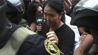 Die peruanische Rechtspopulistin Keiko Fujimori sitzt wegen Korruptionsverdacht erneut in Untersuchungshaft. (Archivbild)