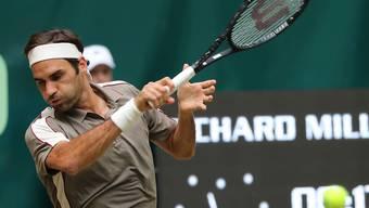 Roger Federer wird von Jo-Wilfried Tsonga hart gefordert
