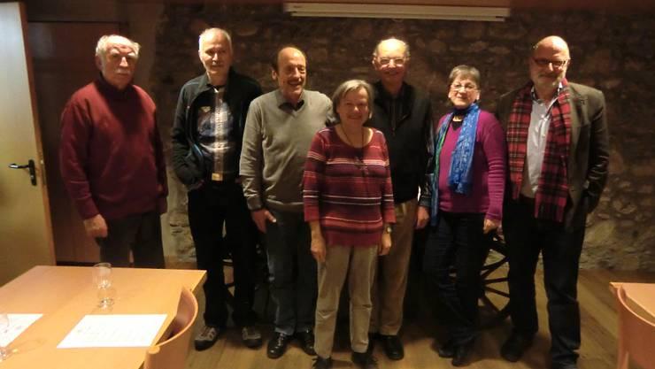 Langjährige SP-Mitglieder mit Präsident Reinhard Keller (dritter von rechts)