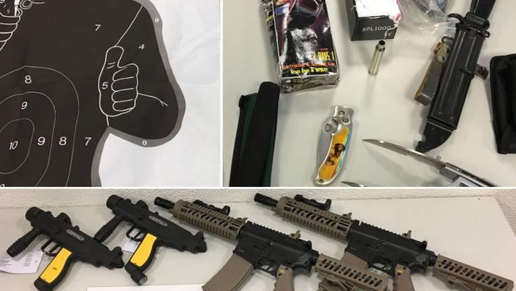 Die gefundenen Waffen