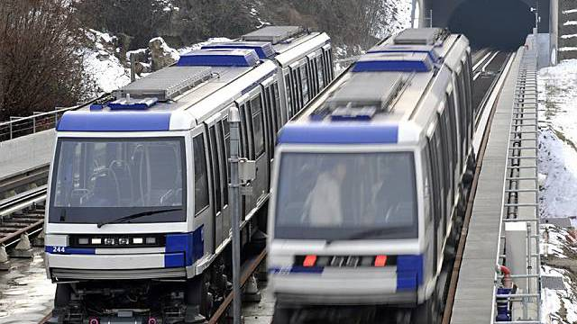 Steilste Metro Europas in Lausanne