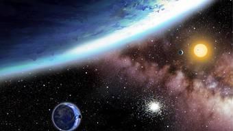 Ein neu entdecktes Planetenpaar könnten komplett von Wasser bedeckt sein - beste Voraussetzungen für Leben.