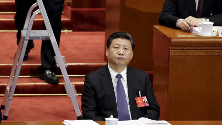 Chinas Präsident Xi Jinping am Nationalen Volkskongress in Peking 2016. Jason Lee/Reuters