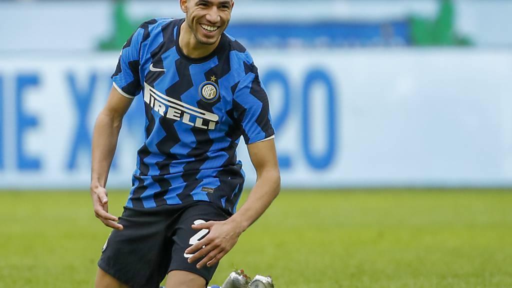 Achraf Hakimi im Trikot seines letzten Arbeitgebers Inter Mailand