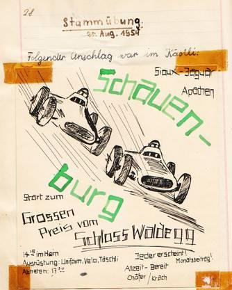 Das Tagebuch der Patrouille Jaguar 1954-1957, die aus Venner Mungo, Jungvenner Chräie, sowie aus Hirsch, Puma, Bibi, Adler, Uhu und Biber bestand.