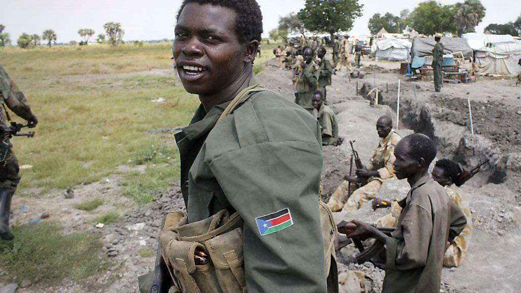 Regierungssoldaten des Südsudans: Laut dem zuständigen UNO-Sonderbeauftragten droht im afrikanischen Land ein Völkermord. Die USA wollen das mit einem Waffenembargo abwenden. Für Russland ist der Schritt «verfrüht». (Archivbild)