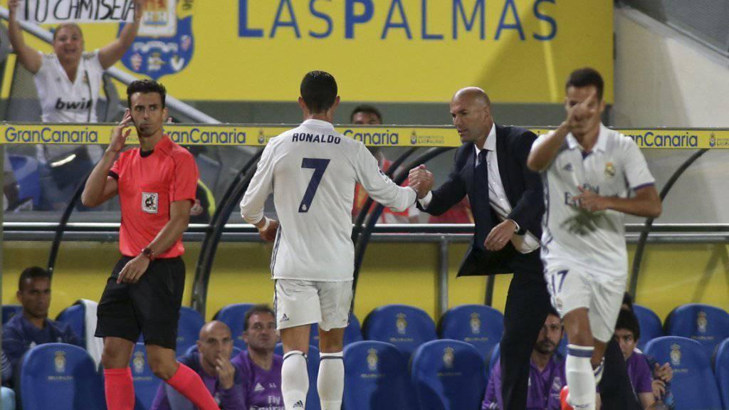 Cristiano Ronaldo zeigte sich ob seiner Auswechslung überhaupt nicht erfreut