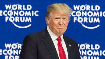 US-Präsident Donald Trump 2018 am WEF in Davos  2018.