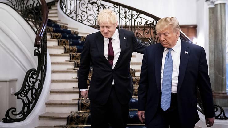 Der britische Premierminister Boris Johnson (links) und US-Präsident Donald Trump am G7-Gipfel im französischen Biarritz im Sommer 2019. (Archivbild)