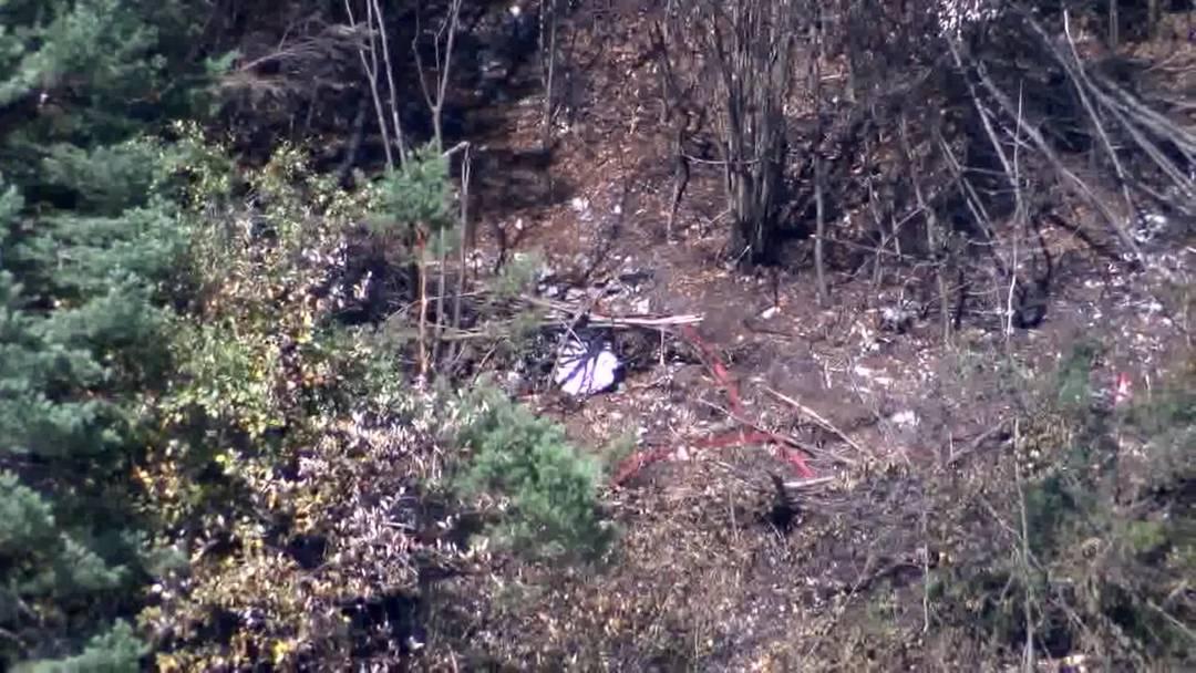 Abgestürzte F/A-18 hinterlässt eine Spur der Verwüstung