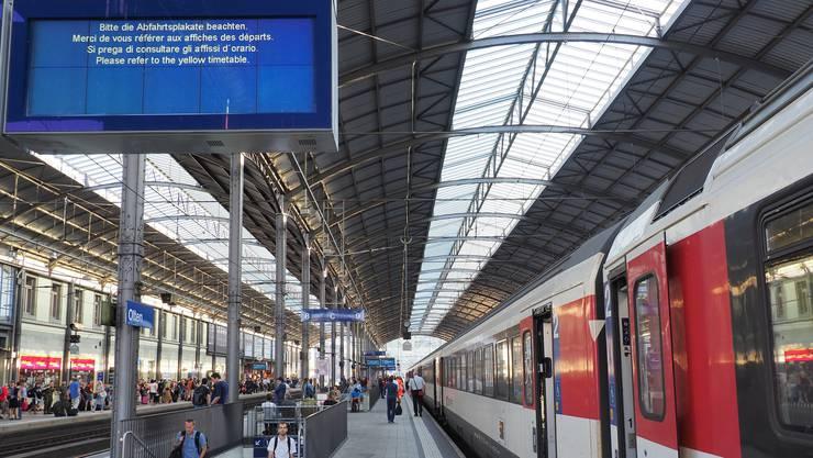 Wer zwischen Bern und Olten unterwegs ist, muss eine längere Reisezeit einplanen.