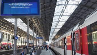 Bauarbeiten führen am Wochenende zu Zugsausfällen auf der Strecke zwischen Luzern und Olten.