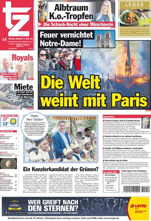 tz: «Die Welt weint mit Paris»