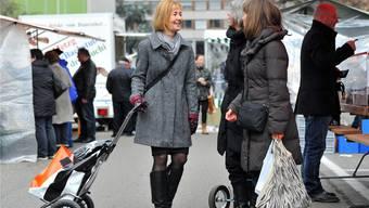 Am Samstag kauft Susanne Schaffner am liebsten auf dem Markt im Oltner Bifang ein. «Dort gefällt es mir.»