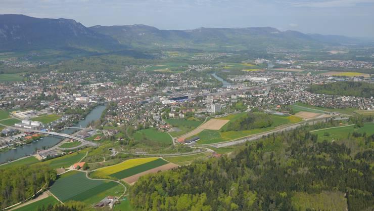 Bellach, Langendorf, Solothurn, Zuchwil, Biberist, Luterbach und Derendingen ergäben eine neue Stadt mit 50 000 Einwohnern