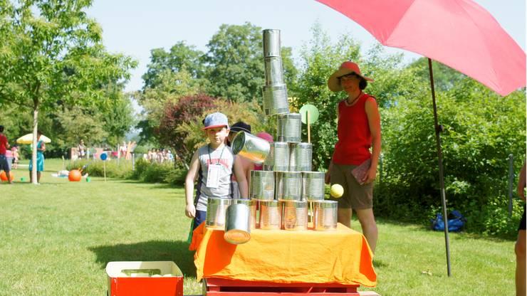 Sporttag der Kindergärten von Wohlen in der Badi