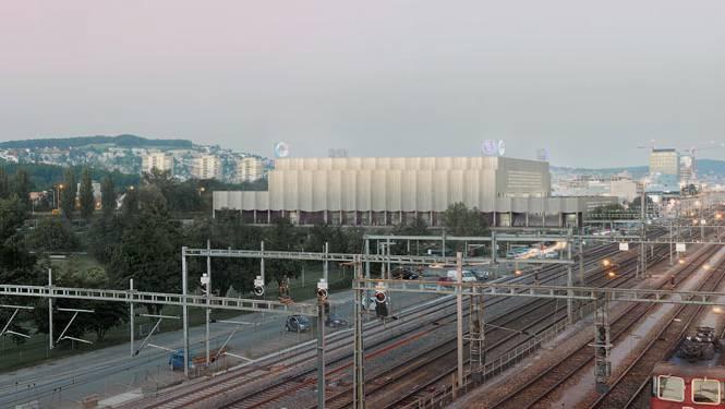 Auf dem Vulkan-Areal, wo sich heute noch Schrebergärten befinden, soll dereinst dieses Eishockeystadion entstehen. (Visualisierung)