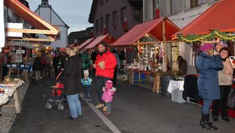 Die Mellinger Altstadt im Marktfieber. Dieses Jahr fällt nun auch der Chlausmarkt aus.