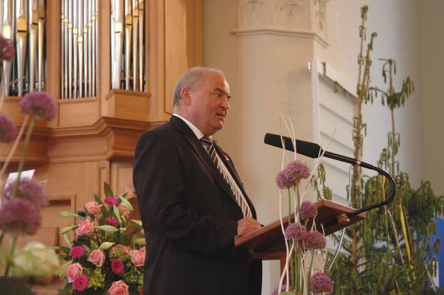 Stadtammann Daniel Moser freut sich über das 100-Jahr-Jubiläum