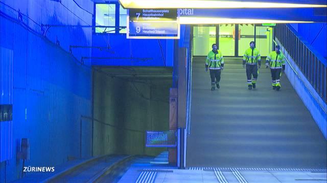 Tunnelbrand stoppt Tramverkehr