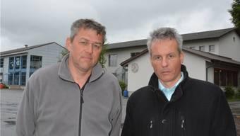 Die Schulpflegepräsidenten Stephan Gerhard (l.) und Roger Lussi sind besorgt über die Auswirkungen des Sparens.