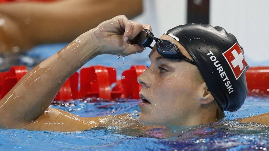 Sasha Touretski schwimmt in Kasan über 50 m Delfin so schnell wie noch keine Schweizerin