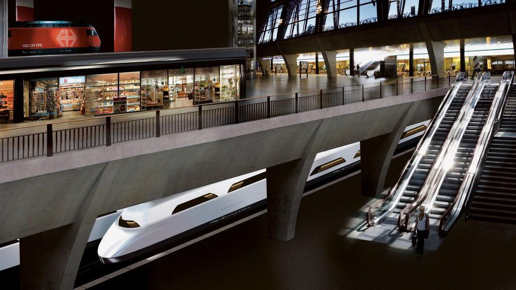So könnte der Luzerner Tiefbahnhof einmal aussehen.