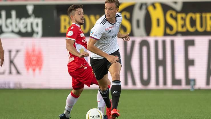 Einer jener Spieler, die - trotz Positionsrochade in der Partie - überzeugen konnte: Jasper van der Werff.