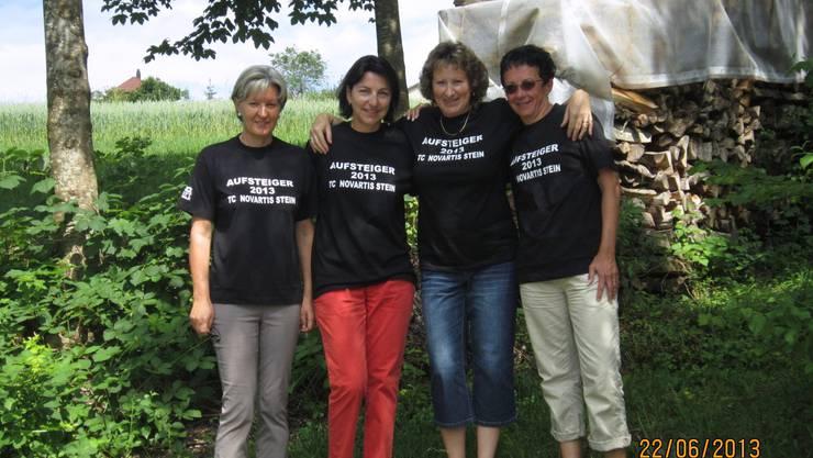 v.l.n.r.  Anita Wochner, Hedi Tonet, Priska Tschan, Barbara Zeltner (auf dem Foto fehlen:  Gabi Zeoli, Erika Meier und Regula Suter)