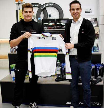 U19-Bahnweltmeister Stefan Bissegger (l.) verstärkt das U23-Team.