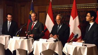 Johann Schneider-Ammann trifft seine Amtskollegen aus Deutschland, Liechtenstein und Österreich in Basel