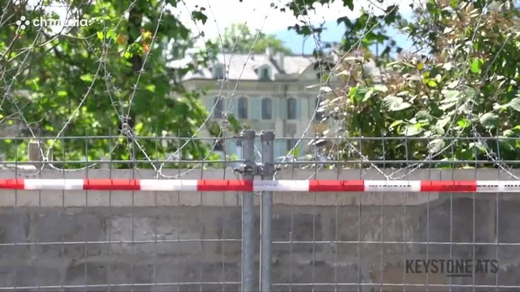 Genf hat sich «eingeigelt»: Meterweise Stacheldraht vor Biden-Besuch
