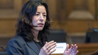 Die baselstädtische Finanzdirektorin Tanja Soland (SP) präsentiert trotz Corona-Krise ein Kantonsbudget mit einem satten Überschuss (Archivbild).