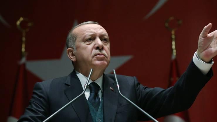 """Der türkische Staatspräsident Recep Tayyip Erdogan am Freitag in Ankara: """"Wir brauchen keinen Vermittler."""""""