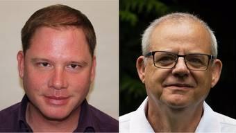 Raphael Lemblé (links) zieht in den Gemeinderat ein, Stephan Wiestner unterlag.