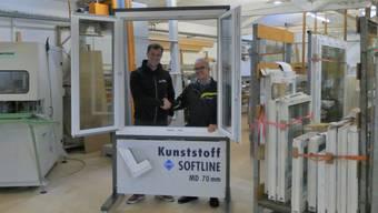 Craig von Schulthess und rechts Manfred Loosli (Geschäftsführer der Loosli Gruppe)