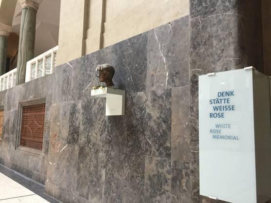 Gedenkstätte für Sophie Scholl in der Maximilian-Universität.