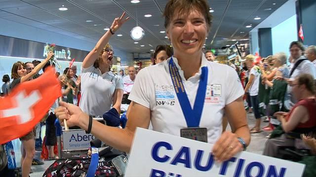 Warmer Empfang für Gewinnerin des Race across America