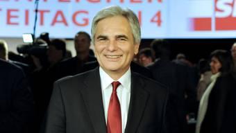 Bundeskanzler Faymann bei SPÖ-Parteitag in Wien